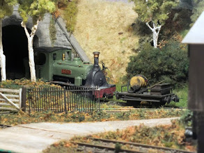 Photo: 018 The next few photos feature Arne, David's second loco for the Burnbake and Woodyhyde Railway. This was a model that he rescued in unloved condition from a tray on the 009 Society sales stand and duly did some restoration work to produce an operational locomotive .