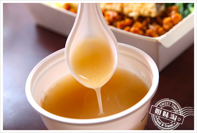 桌上賓中式快餐附湯