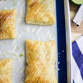 Blackberry Toaster Strudel with Vanilla-Lime Glaze