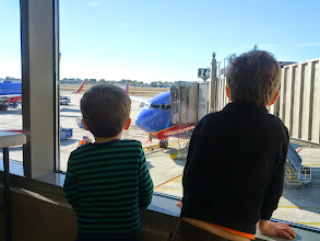 Photo: Clark, Finn, and a Plane