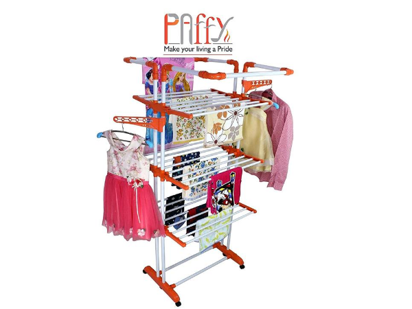 Paffy King Jumbo Cloth Drying Stand, 3 Pole 3 Layer