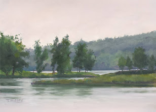 "Photo: Connecticut River, West Branch, 11x15"" oil on paper, $300"