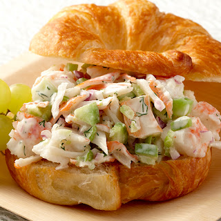 Dilled Alaska Surimi Salad Sandwich