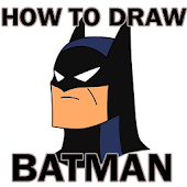 how to draw Batman easily