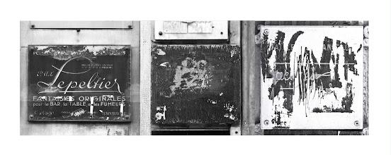 Photo: 3 plaques de rue, rue Réaumur, 1989.
