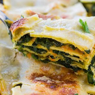 Pumpkin and Spinach Lasagna Recipe