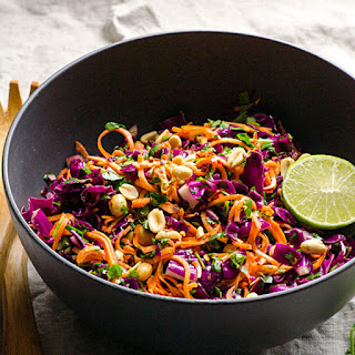 Lime Peanut Sweet Potato Noodles Salad.