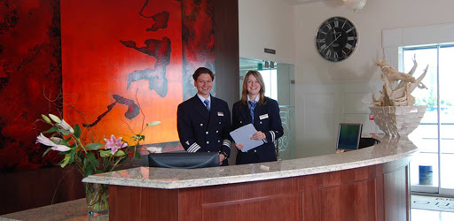 The reception area on AmaWaterways' AmaCello river ship.