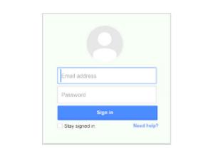 Google Apps login screen