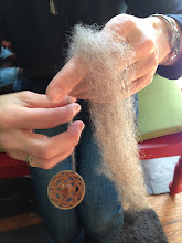 Photo: learn to spin at saori santa cruz either  beginning  drop spindles and to spinning wheels, carding fibers, belending fibers....