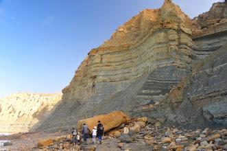 Photo: Littoral atlantique - Et c'est reparti. Les falaises argileuses sont travaillées par l'érosion.