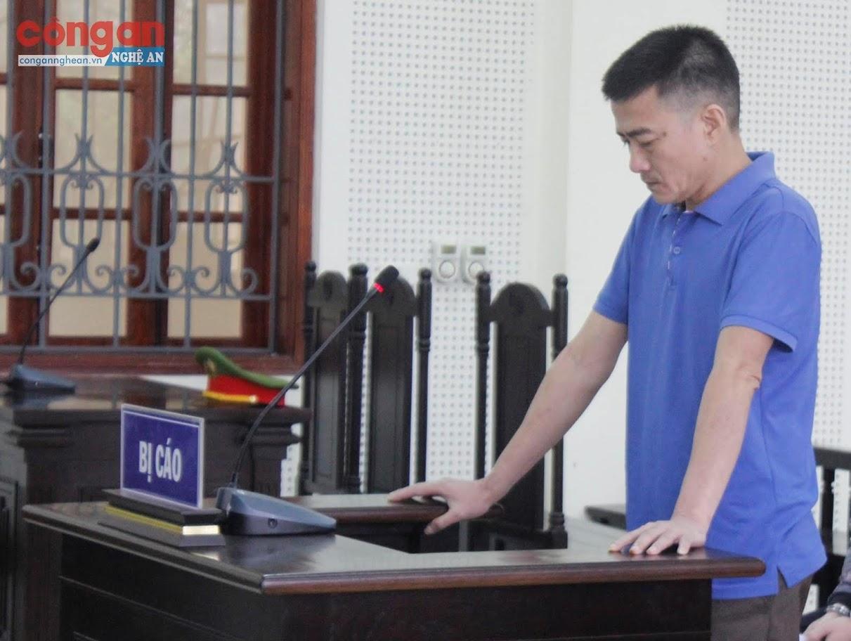 Bị cáo Vũ Văn Sơn tại phiên tòa