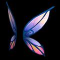 紫の空飛ぶ羽A