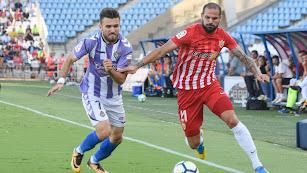 Nano en el partido ante el Valladolid el pasado campeonato.