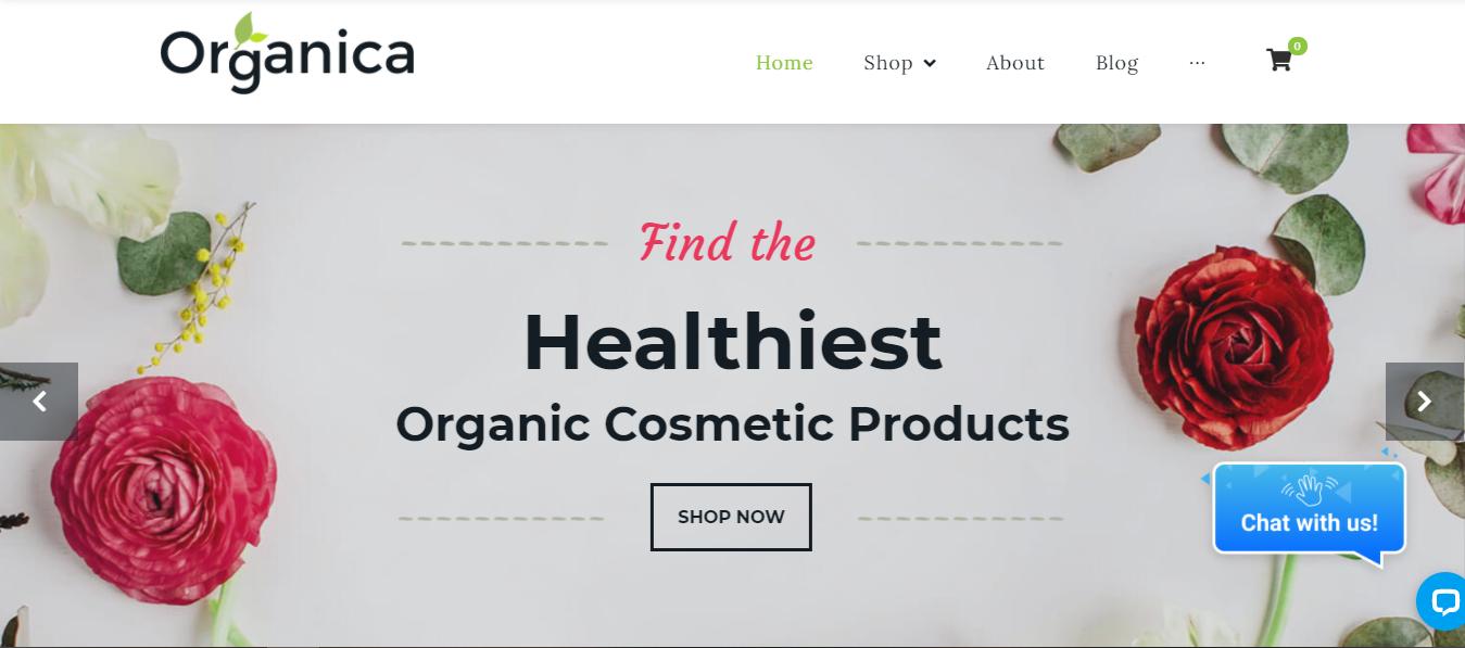 Organica - Cosmetic Woocommerce theme