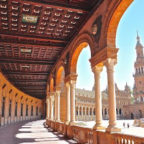 Plaza de Espana, Seville, SPAIN by Vinay Tyagi - Buildings & Architecture Public & Historical