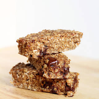 Chewy Chocolate Chip Peanut Butter Granola Bars.