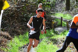 Photo: Course hors stade  22/03/2014  Trail des Trois Chapelles Bains-sur-Oust  15 km  Mathieu Piednoir  Pacé en Courant