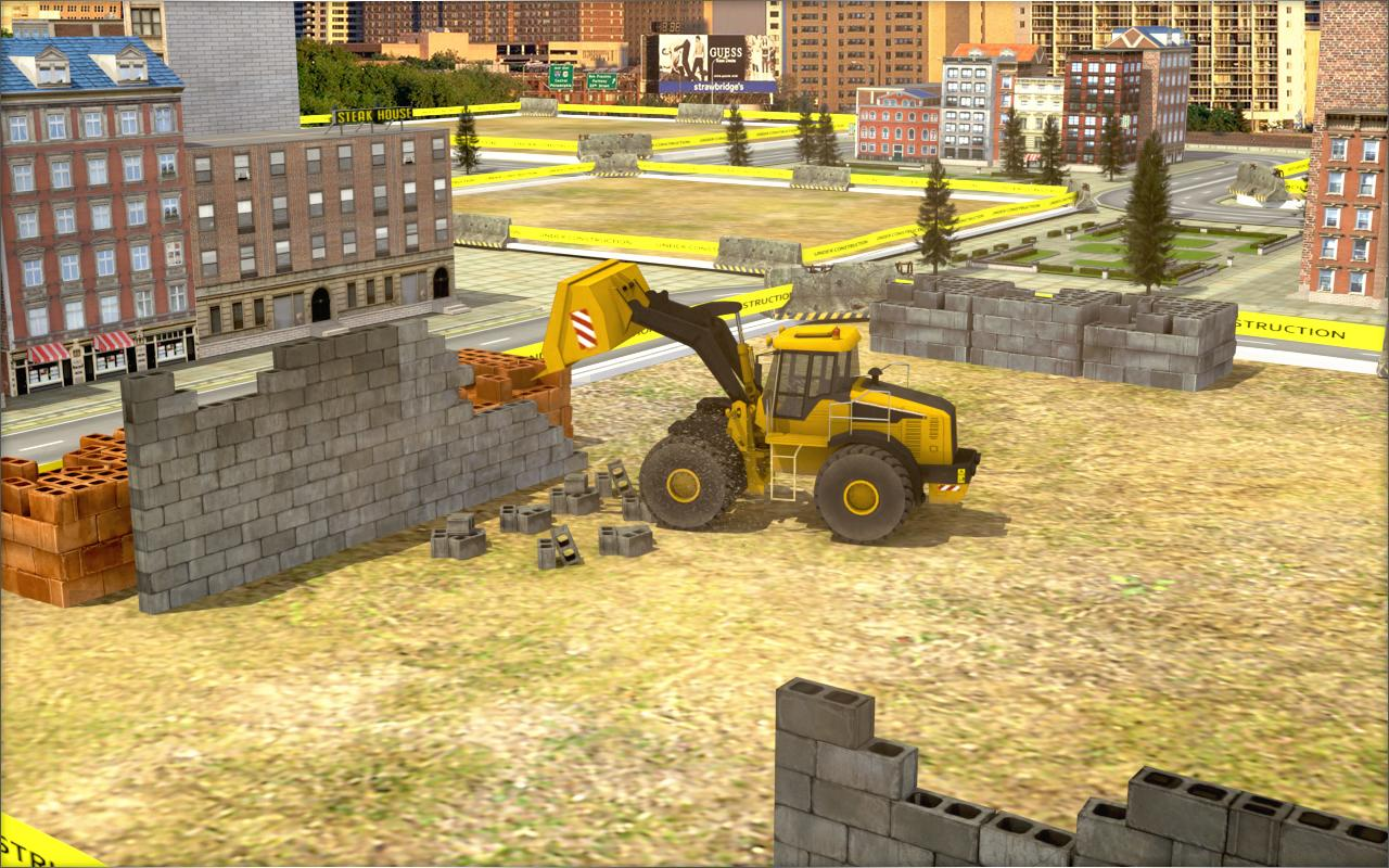 Construction simulator building city 2017 android apps for Online house builder simulator