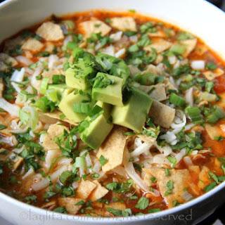 Chicken Or Turkey Tortilla Soup