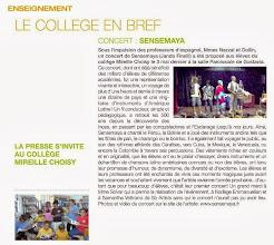 "Photo: Sensemaya à St Barth"" au Collège M. Choisy (organisé par Leila Nazzal & D. Dollin)"