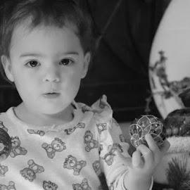 Christmas  by Mindi Baum-sherlin - Babies & Children Toddlers ( winter, girl, season, christmas, indoors, bulbs, baby, toddler, decorating )