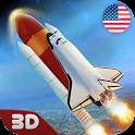 USA Air Force Rocket Flight 3D icon