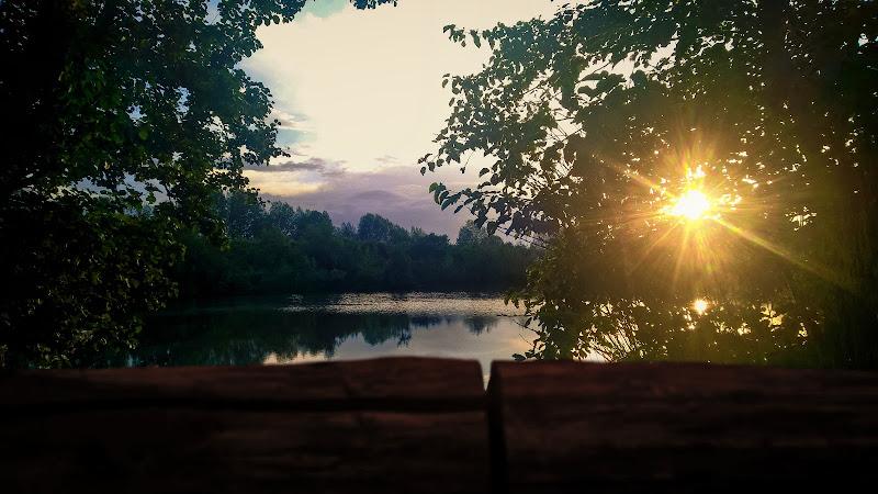 lago al tramonto di francesco_calabrese