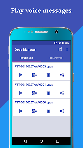 Voice & Audio Manager for WhatsApp , OPUS to MP3 4.1.4 screenshots 13