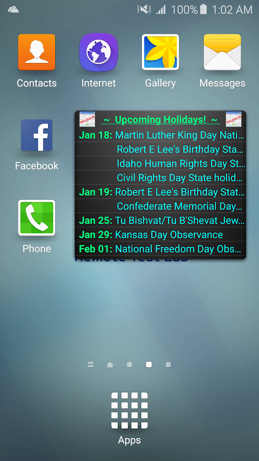 Holiday Calendar Free- screenshot