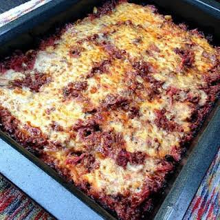 Zucchini Pastitsio (Mediterranean Baked Beef and Pasta Casserole).