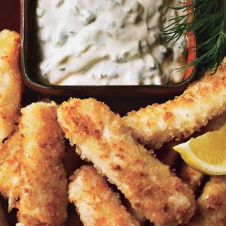 Halibut Fish Sticks with Dill-Caper Tartar Sauce
