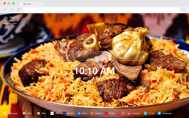 Rice New Tab Page HD Wallpapers Themes