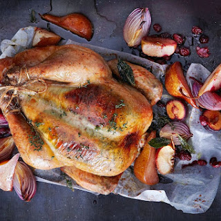 Roast Chicken With Winter Fruits