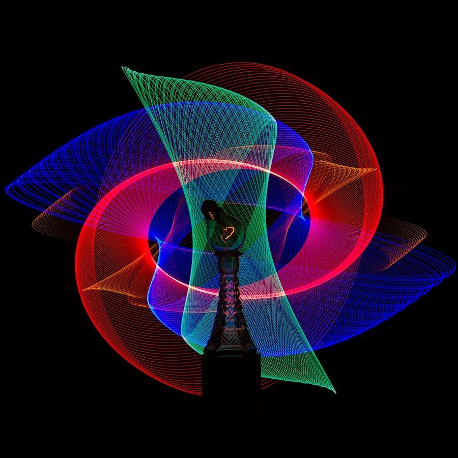 by Jean-Marc Landry - Abstract Light Painting ( glass, light bulb, light art )