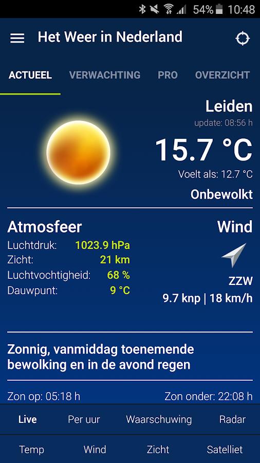 Het Weer in Nederland- screenshot