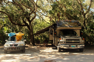 Photo: Our site at Anastasia Island State Park in Florida