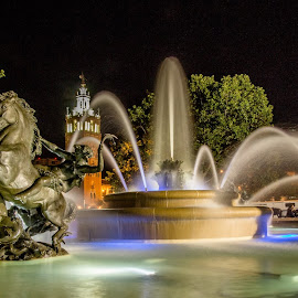 Nichols fountain by Teresa Husman - Artistic Objects Other Objects