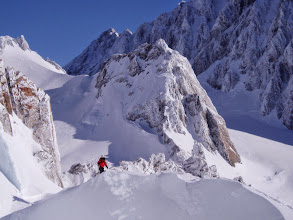 Photo: guided ski touring in New Zealand