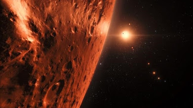 Photo: This handout artist s impression released by the European Southern Observatory on February 22  2017 shows the view just above the surface of one of the planets in the TRAPPIST-1 system   The stunning discovery of seven Earth-like planets orbiting a small star in our galaxy opens up the most promising hunting ground to date for life beyond the Solar System  researchers said Wednesday  All seven are within 20 percent of the size and mass of our own planet and almost certainly rocky  and three are ideally situated to harbour life-nurturing oceans of water  they reported in the journal Nature     AFP PHOTO   European Southern Observatory   M  Kornmesser   RESTRICTED TO EDITORIAL USE - MANDATORY CREDIT  AFP PHOTO   ESO M  Kornmesser spaceengine org  - NO MARKETING NO ADVERTISING CAMPAIGNS - DISTRIBUTED AS A SERVICE TO CLIENTS