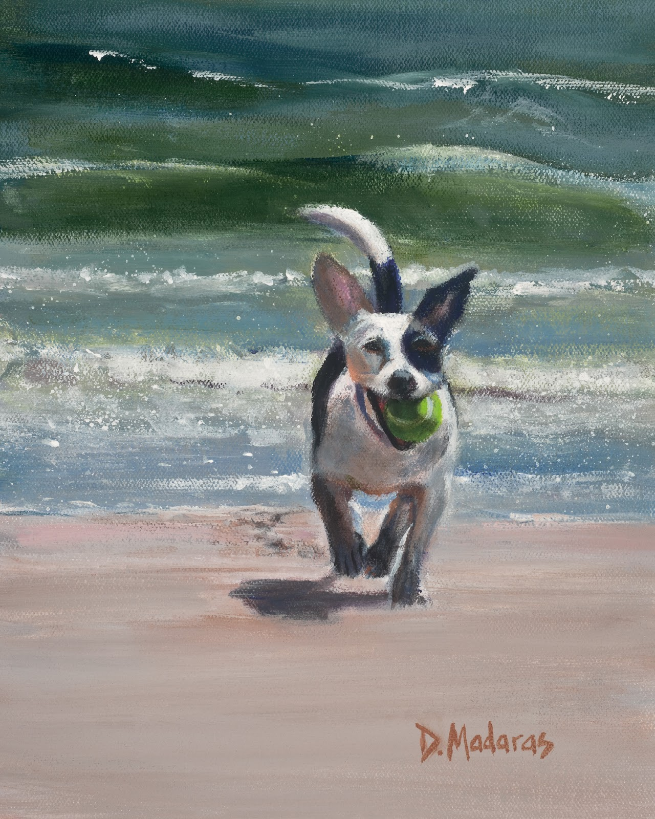 DOG ON THE BEACH by Diana Madaras.jpg