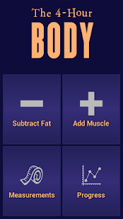 The Official 4-Hour Body App Screenshot