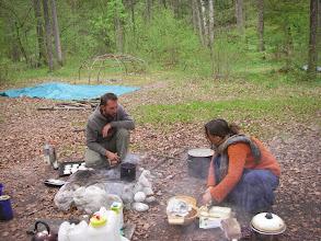 Photo: Vorbereitung fürs Mittagessen