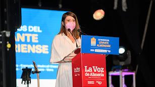 Ángeles Martínez durante su intervención.