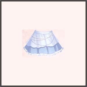 パールレーススカート(青)