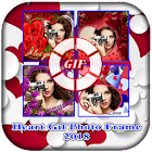 Heart Gif Photo Frame Maker 2018 icon