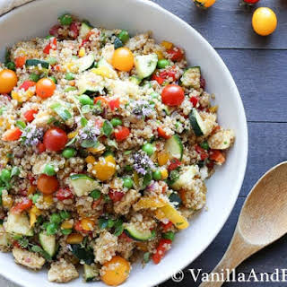 Market Quinoa Salad with Fresh Mozzarella.