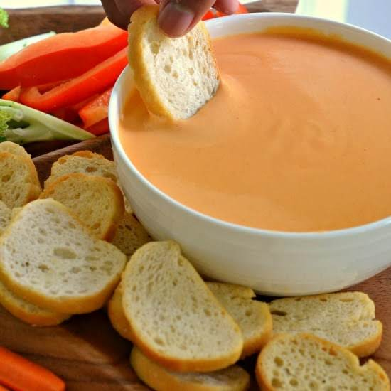 Beer Cheese Dip With Crostini