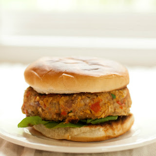 Sweet Potato & Chickpea Burgers.