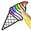 Glitter Ice Cream Coloring icon